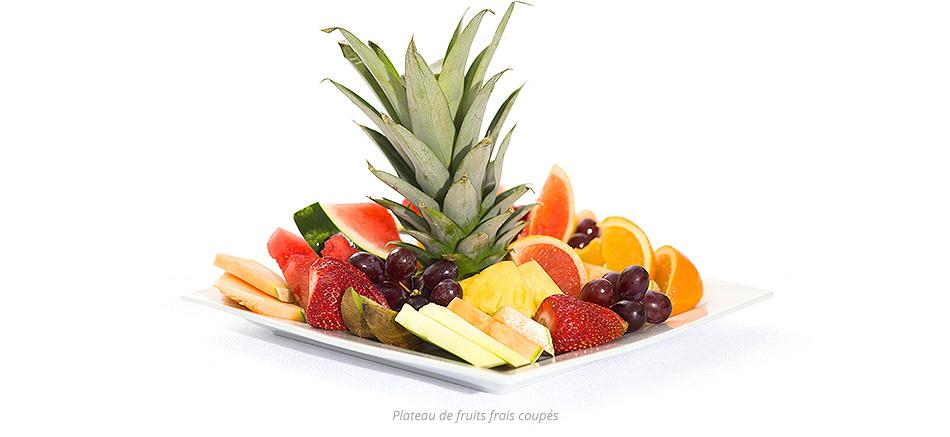 Plateau de fruits frais coupés